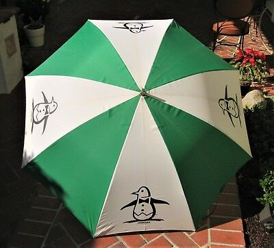 Vintage 1970's Masters Golf Munsingwear Penguin Umbrella Advertising Haas Jordan