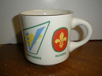 VINTAGE HTF Boy Scout Mug Wolf Cubs, Scouts, Venturers, Rovers CANADA