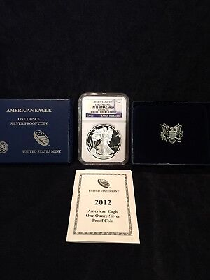 2012 W PROOF Silver American Eagle Coin NGC PF70 UC ULTRA CAM EARLY RELEASE COA