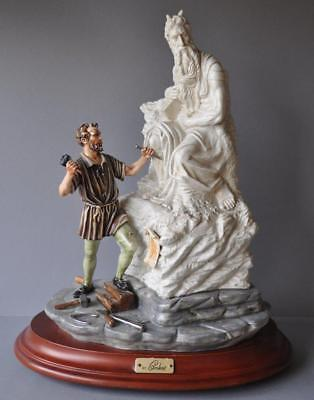 Rare Capodimonte Cortese Porcelain Moses by Michelangelo Statue Italy