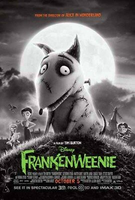 FRANKENWEENIE great original D/S 27x40 movie poster LAST ONE (s02)