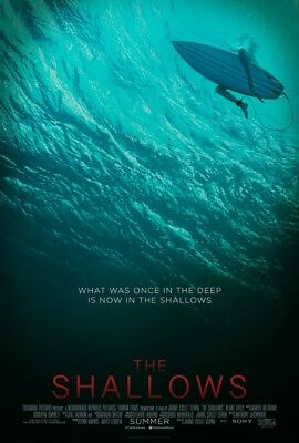 THE SHALLOWS great original 27x40 D/S movie poster (s01)