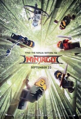THE LEGO NINJAGO MOVIE great original 27x40 D/S movie poster (s01)