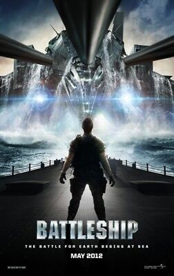 BATTLESHIP advance great original 27x40 D/S movie poster (s01)