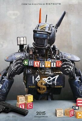 CHAPPIE advance great original 27x40 D/S movie poster (s01)