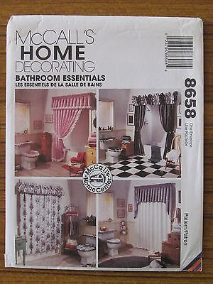 McCALL'S PATTERN - 8658 HOME DECORATING CURTAINS BATHROOM ESSENTIALS UNCUT