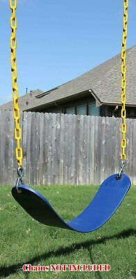 SWING SET STUFF COMMERCIAL RUBBER BELT SEAT BLUE CHAIN playground fort park kids
