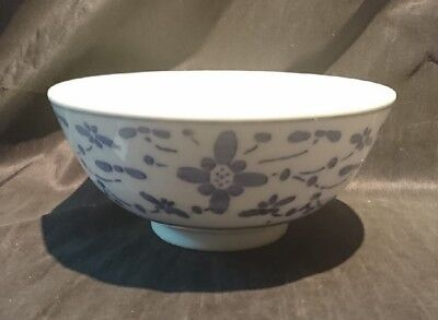 *TRADITIONAL Collectable BLUE & WHITE Oriental CHINESE BOWL 9cm x 20cm*