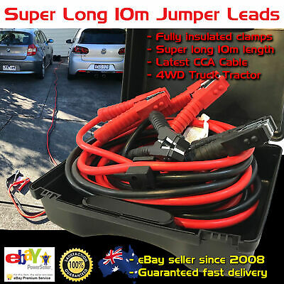 Truck 4WD 10M Long SUPER HEAVY DUTY JUMPER JUMP START LEADS Booster Cables