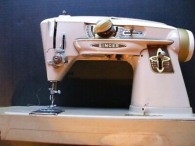 Vintage Singer 500A Slant-O-Matic Rocketeer Sewing Machine Parts Machine As Is