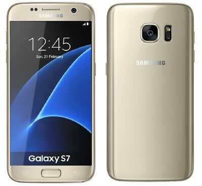 Samsung Galaxy S7 in Gold Handy Dummy Attrappe - Requisit, Deko, Werbung, Muster