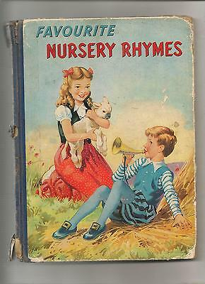 FAVOURITE NURSERY RHYMES & LULLABIES FOR CHILDREN illustr. by A.E.Kennedy 61 pag