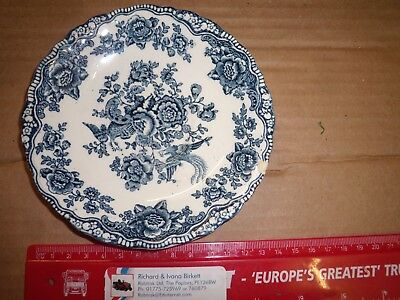 CROWN DUCAL Bristol blue 14.5 cm diameter Plate ENGLISH IRONSTONE vintage origin