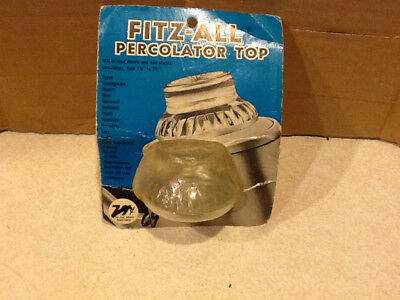 """Fitz-All Replacement Percolator Top 1-1/2"""" to 2-1/2"""" Diameter/NEW"""