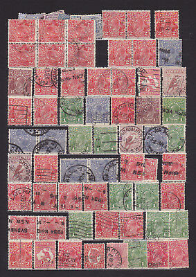 large lot of old stamps from AUSTRALIA / AUSTRALIEN – Look at scan!!!