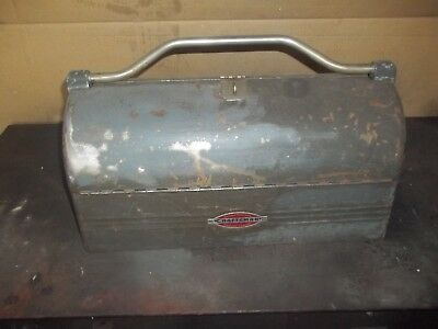 Vintage Craftsman Domed Old Lunch Box Style Tool Box