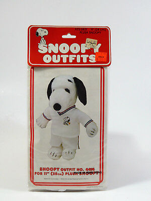 """NIP Vintage TENNIS PLAYER OUTFIT wardrobe for 11"""" Plush Snoopy Doll"""