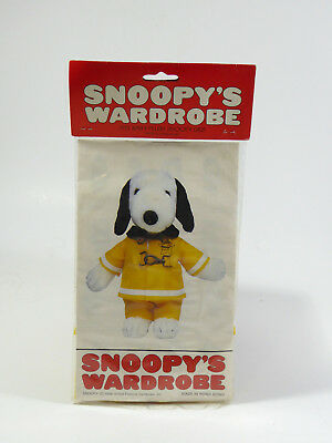 """NIP Vintage FIREMAN'S OUTFIT wardrobe for 11"""" Plush Snoopy Doll"""