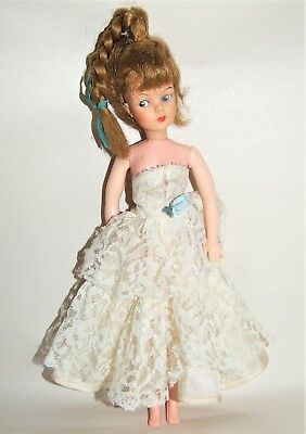 """Vintage 1960's EEGEE Shelley 12"""" Doll with Grow Hair Still Has Working Pull Cord"""