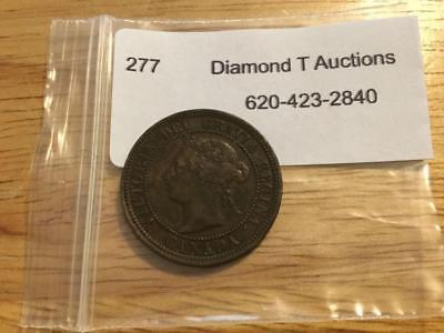 1882 Victoria Canadian one cent piece Lot 277