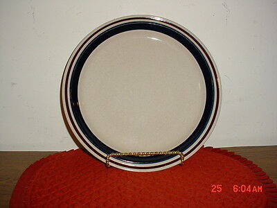 "Contemporary ""chateau"" Lrg Hand Painted 12 1/8"" Platter/beige-Blu-Brn/clearance!"