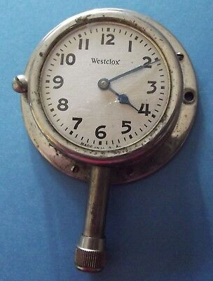 Vintage Westclox Long Stem Car Clock Model A/t With Mounting Ring And One Screw