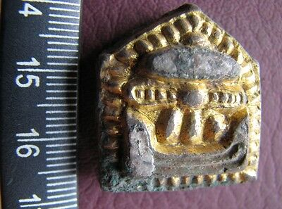 Ancient Artifact > Viking Bronze-Gilt Skidbladnir Odin's Ship Belt Mount VK 22-6