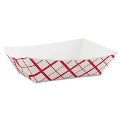 Southern Champion Tray SCH0425 Paper Food Baskets, 3lb, Red/white, 500/carton