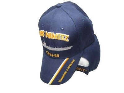 88e778bcac4 US Navy USS Nimitz CVN-68 Teamwork A Tradition Blue Embroidered Cap CAP550R  Hat