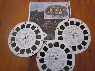 VIEW-MASTER WORLD FAMOUS SARASOTA JUNGLE GARDENS 3 REELS  1950s