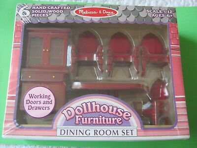 Victorian Trading Co Melissa & Doug Doll House Furniture Dining Room Set