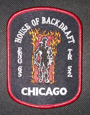 "Ärmelabzeichen Feuerwehr Chicago Fire Dept. ""House of Backdraft"" Eng 65 Truck 52"