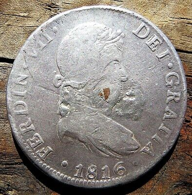 1816 Mo 8 REALES WAR OF INDEPENDENCE .99 NO RESERVE 26.2 GRAMS