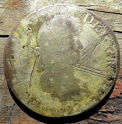 1822 Mo 8 REALES WAR OF INDEPENDENCE .99 NO RESERVE 23.5 GRAMS CAST