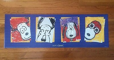 TOM EVERHART PEANUTS SNOOPY 1999 LITHO POSTER PRINT - 11 3/4 x 36 - MINT!