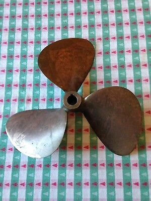 "Vintage Bronze Boat Propellor - describes 15"" circle - may be unused"
