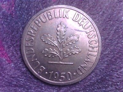 Germany  10   Pfennig   1950   J   1977   D