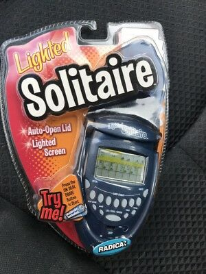 Radica  Lighted Solitaire Electronic Handheld Game #74014 Sealed 2003 new