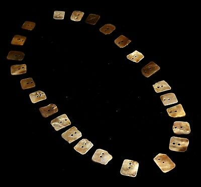 140) 25 Ancient Pre Columbian Chimu or Moche Nacre Shell Bead Pendants
