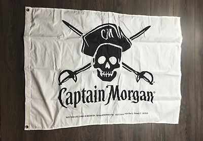 Captain Morgan Rum White & Black Flag Large Raise Your Glass 2015