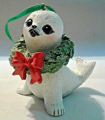Danbury Mint SEAL Baby Animals Christmas Ornament with Tag