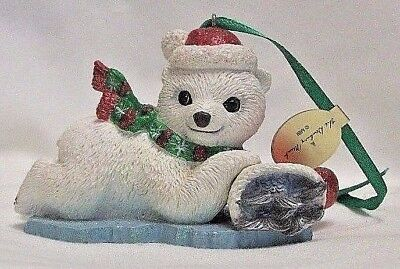 Danbury Mint POLAR BEAR  Baby Animals Christmas Ornament with out tag