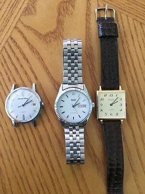 Mens Watch Lot Of Three Vintage Watches