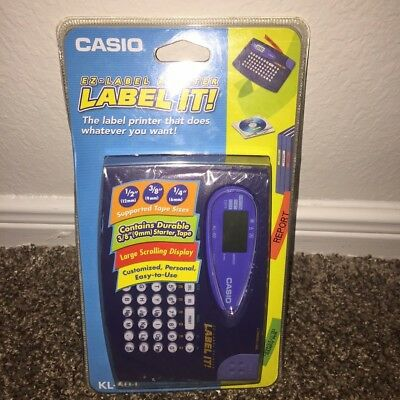 New Casio KL-60L Label It Compact System Label Thermal Printer