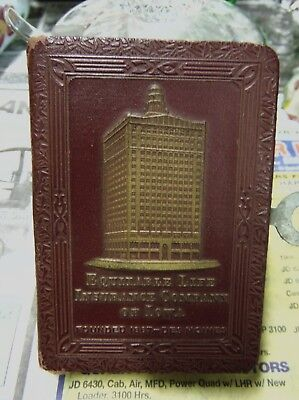 VTG 1923 Patent Equitable Life Insurance Co. of Iowa COIN BOOK BANK Des Moines