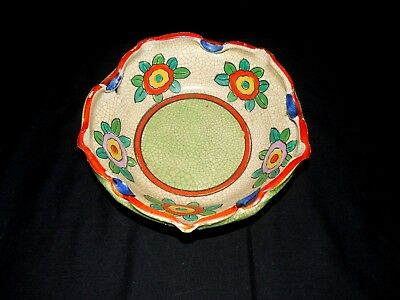 Vintage Hand Painted Asian Japanese Art Pottery Bowl