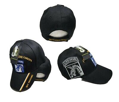 U.S. Army 18th Airborne Shadow Sky Dragons Black Embroidered Cap CAP630 Hat