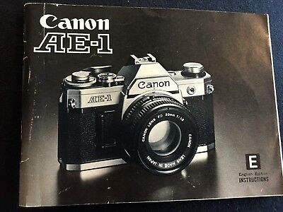Vintage Instruction manual for Canon AE-1 35 mm camera