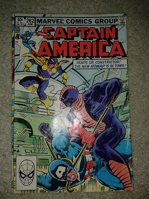 Marvel Captain America Comic No 282 June 1983