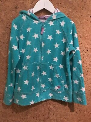 Mini Boden Star hooded Towelling Zip Top 7-8 Years